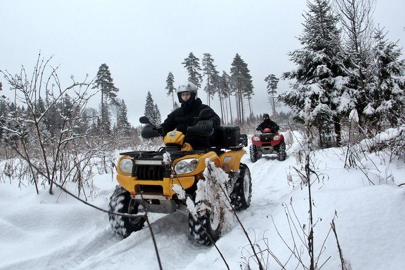 Катание на квадроциклах в подмосковье зимой